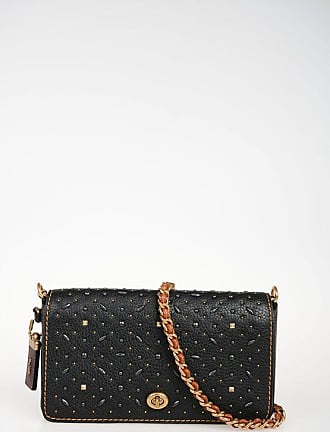Coach Leather Shoulder Bag with Studs size Unica