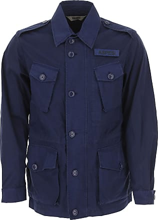 Aspesi Jacket for Men On Sale, Dark Blue Navy, Cotton, 2017, L M S