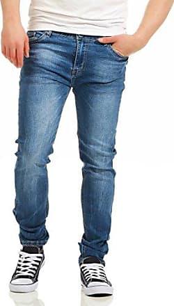 11034 Herren Jeans Jeanshose RegularFit Denim Stretch Destroyed Usedlook Wrinkle