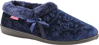 Dunlop Womens Gemma Slippers Navy Blue - UK 7