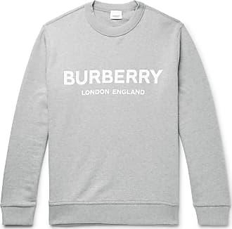 43803a50fcccec Burberry Logo-print Mélange Loopback Cotton-jersey Sweatshirt - Gray