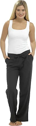 Tom Franks Ladies Women Full Length Linen Trousers with Elasticated Waist 16 Black