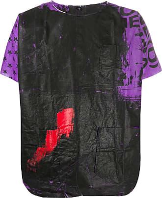 Raf Simons Camiseta com estampa de tinta - Roxo