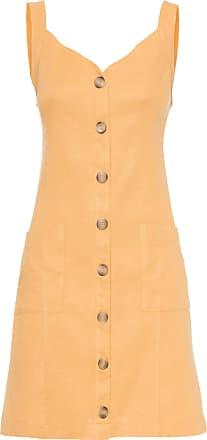 Market 33 Vestido Botões E Bolsos - Amarelo