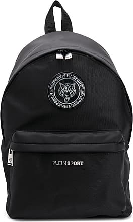 Plein Sport logo backpack - Preto