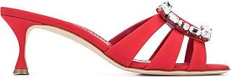 Manolo Blahnik Sandali con fibbia - Di colore rosso