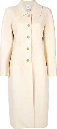 Chanel long sleeve coat jacket - White