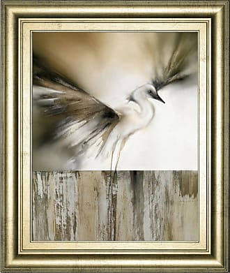 Classy Art Moonlight Landing and the Egret Framed Wall Art - 8200