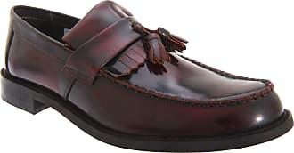 Roamers Roamer Mens Toggle Saddle Hi-Shine Leather Loafers (10 UK) (Oxblood)