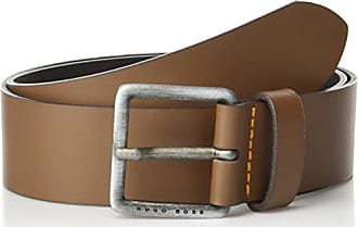 8bb0a442b HUGO BOSS Boss Orange Mens Jeeko Italian Leather Belt, medium brown, 36