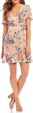 Sugarlips Satin Floral Dress