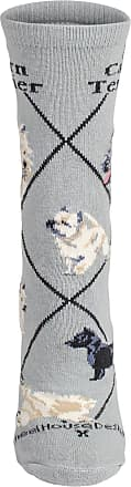 Wheel House Designs Cairn Terrier Socks (UK Size 7 to 10 (Large))