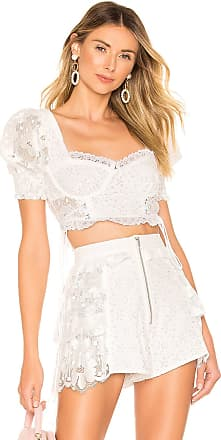 5e782e61b8d8b For Love   Lemons Indio Lace Crop Top in White