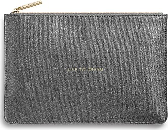 Katie Loxton Perfect Pouch - Live To Dream, Shiny Charcoal, One