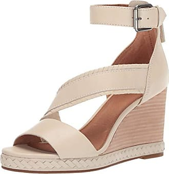 Frye Womens RIVIANA Feather Wedge Flat Sandal Off White 7.5 M US