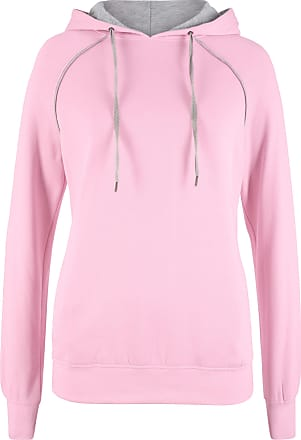 Bonprix Felpa con cappuccio e lacci a contrasto (rosa) - bpc bonprix  collection 326ea054829