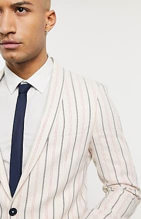 Twisted Tailor Giacca da abito skinny color crema con righe