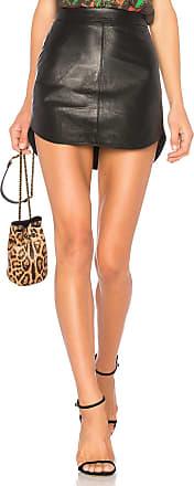 BB Dakota Conrad Leather Skirt in Black