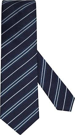 Altea Übergröße : Altea, Krawatte im Leinenmix, gestreift in Marine für Herren