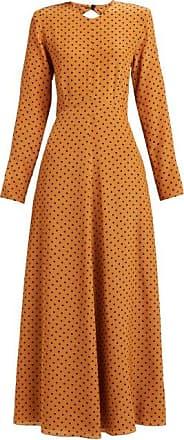 Raey Tie-back Polka-dot Silk Dress - Womens - Tan Print