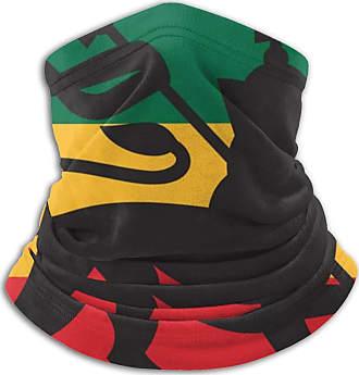 Not Applicable Clothing Rastafarian Flag with The Lion of Judah Neck Warmer -Headwear Wide Headbands Scarf Head Wrap Mask, Neck Gaiter Headband,Tube Fishing Mask, Face Bandan