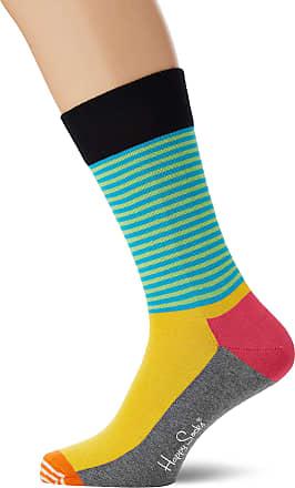 Happy Socks Mens Half Stripe Sock, Multicolour (Multicolour 970), 7-10 (Size:41-46)