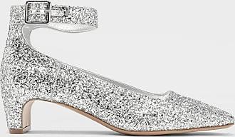 Maison Margiela Glitter Ankle Strap Pumps