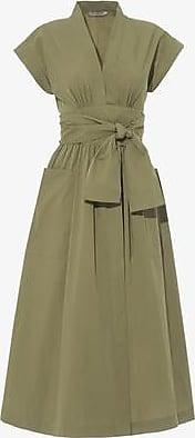 Three Graces London Clarissa Dress in Khaki