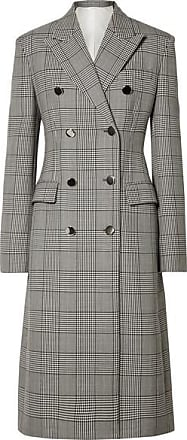 CALVIN KLEIN 205W39NYC Prince Of Wales Checked Wool And Silk-blend Coat - Gray