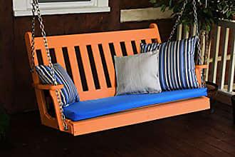 A & L Furniture A & L Furniture 861-O Orange Poly Traditional English Porch Swing, Orange