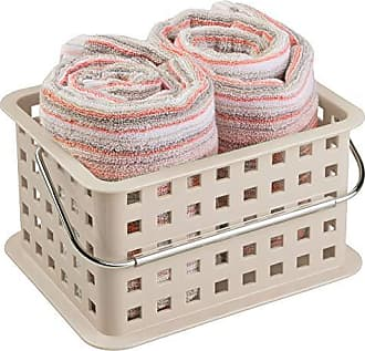 InterDesign Storage Organizer Basket, for Bathroom, Health and Beauty Products - Small, Taupe