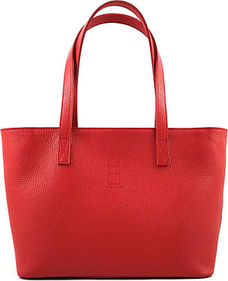 Comembreisd Woman Handbag 42cm in red leather designed and handmade in Italy