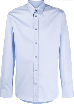 Givenchy Camisa com logo bordado - Azul