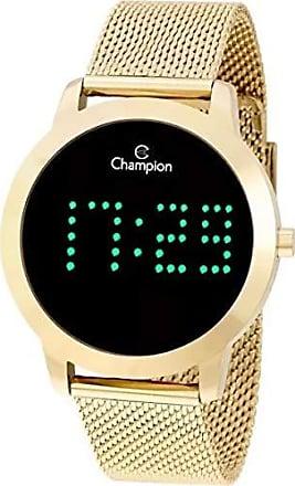 Champion Relógio Feminino Champion Digital Led Dourado CH40017G