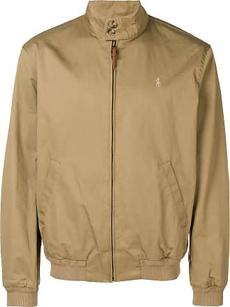 Polo Ralph Lauren logo embroidered bomber jacket - Neutrals
