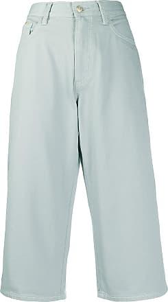 Eytys Calça jeans pantacourt Boylet Will - Azul