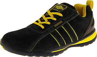Northwest Territory Mens Leather NORTHWEST TERRITORY Shoes Work Shoe Boots Safety Toe Cap Trainers 8 UK Navy & Yellow Suede