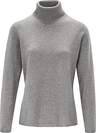 include Roll-neck jumper in pure new wool and cashmere include grey