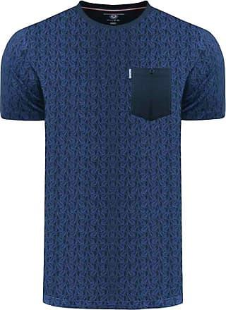 Lambretta Mens Paisley AOP Cotton T-Shirt - Navy - 3XL