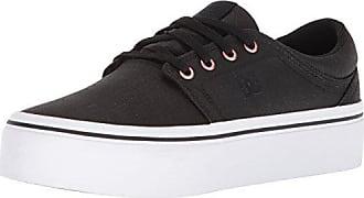 DC Womens Trase Platform TX SE Skate Shoe Black/Gold 10.5 B US