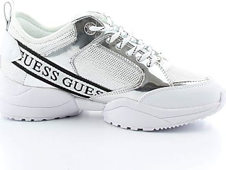 Guess Fashion Woman FL5BREFAM12SILVER Silver Synthetic Fibers Sneakers | Spring Summer 20