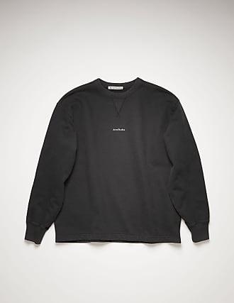 Acne Studios FN-MN-SWEA000172 Black Logo print sweatshirt