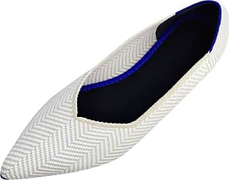 Daytwork Ballet Flat Pointed Ballerina - Casual School Pumps Classic Prom Slip on Comfort Loafers Dress Boat Shoes