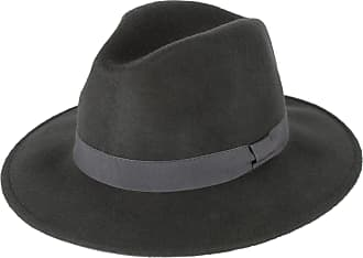 Hat To Socks Grey Wool Fedora Hat with Grosgrain Band Handmade in Italy