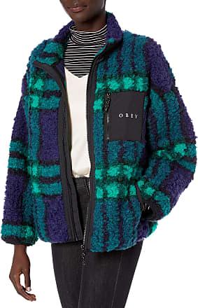 Obey Womens Hudson Jacket, Blue Multi, Large