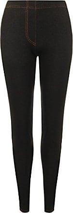 Damen elastisch Gesäßtaschen volle Länge Jeans Look Jeggings Leggings