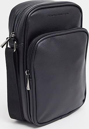French Connection Premium faux leather flight bag-Black