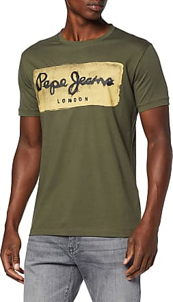 Pepe Jeans London Mens Charing T-Shirt, (Brass 891), Small