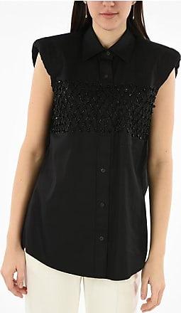 Dries Van Noten sleeveless beads embellished CASULO shirt Größe 40