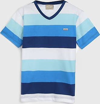 Milon Camiseta Milon Infantil Listrada Azul